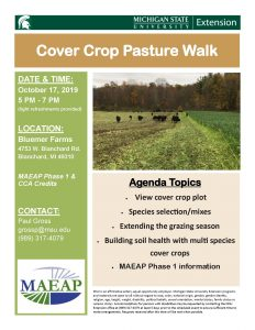 flyer for cover crop pasture