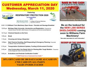 William's machinery event on March 11. Check out https://www.eatoncd.org/events.html for more information.